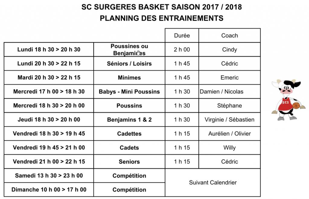 PlanningdesEntrainementssaison2017-2018