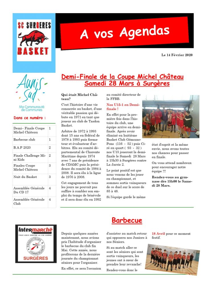 Agenda Basket 6